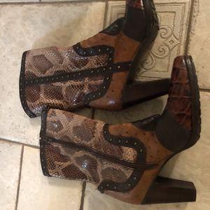 Stuart Weitzman Leather Cowboy Western Boots